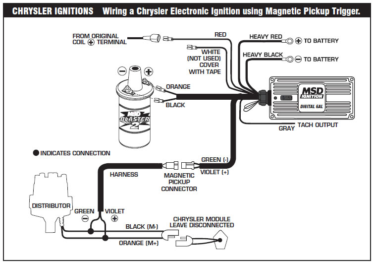 dodge ignition module wiring diagram rotork actuator iq35 how to install an msd 6a digital on your 1979 1995 the following diagrams illustrate numerous installations different vehicles and applications if you experience difficulties when installing