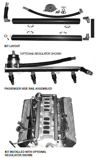 How to install a BBK High Flow Aluminum Fuel Rail Kit on