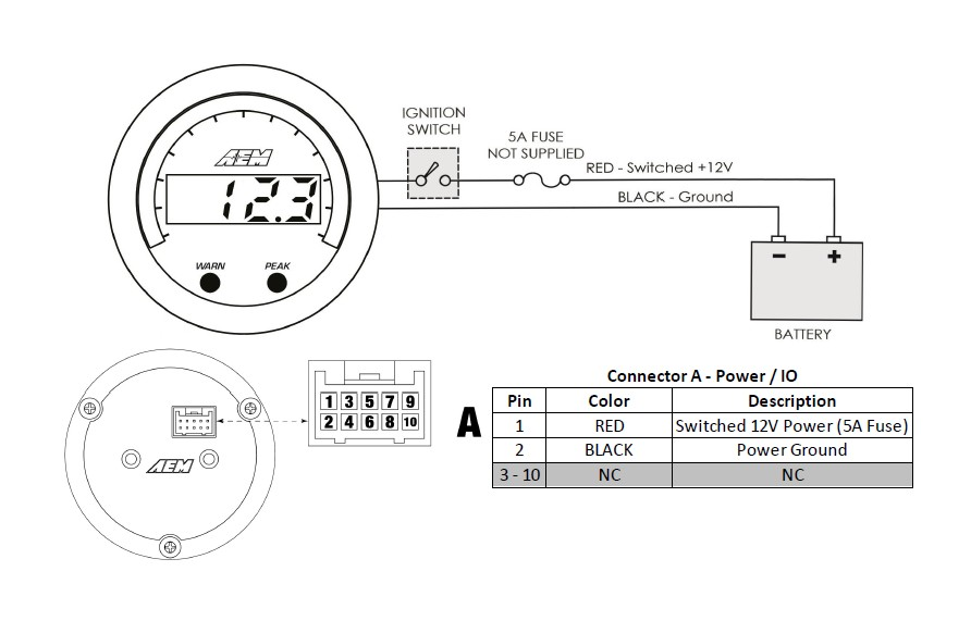 How to Install AEM Electronics X-Series Voltmeter Gauge