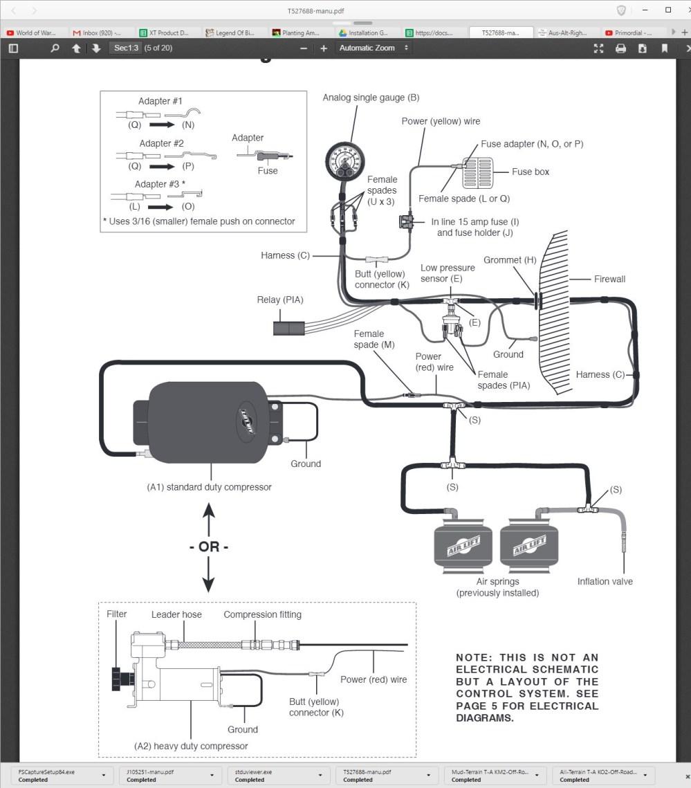 medium resolution of air lift loadcontroller single onboard air system w standard duty compressor 97 19 f 150