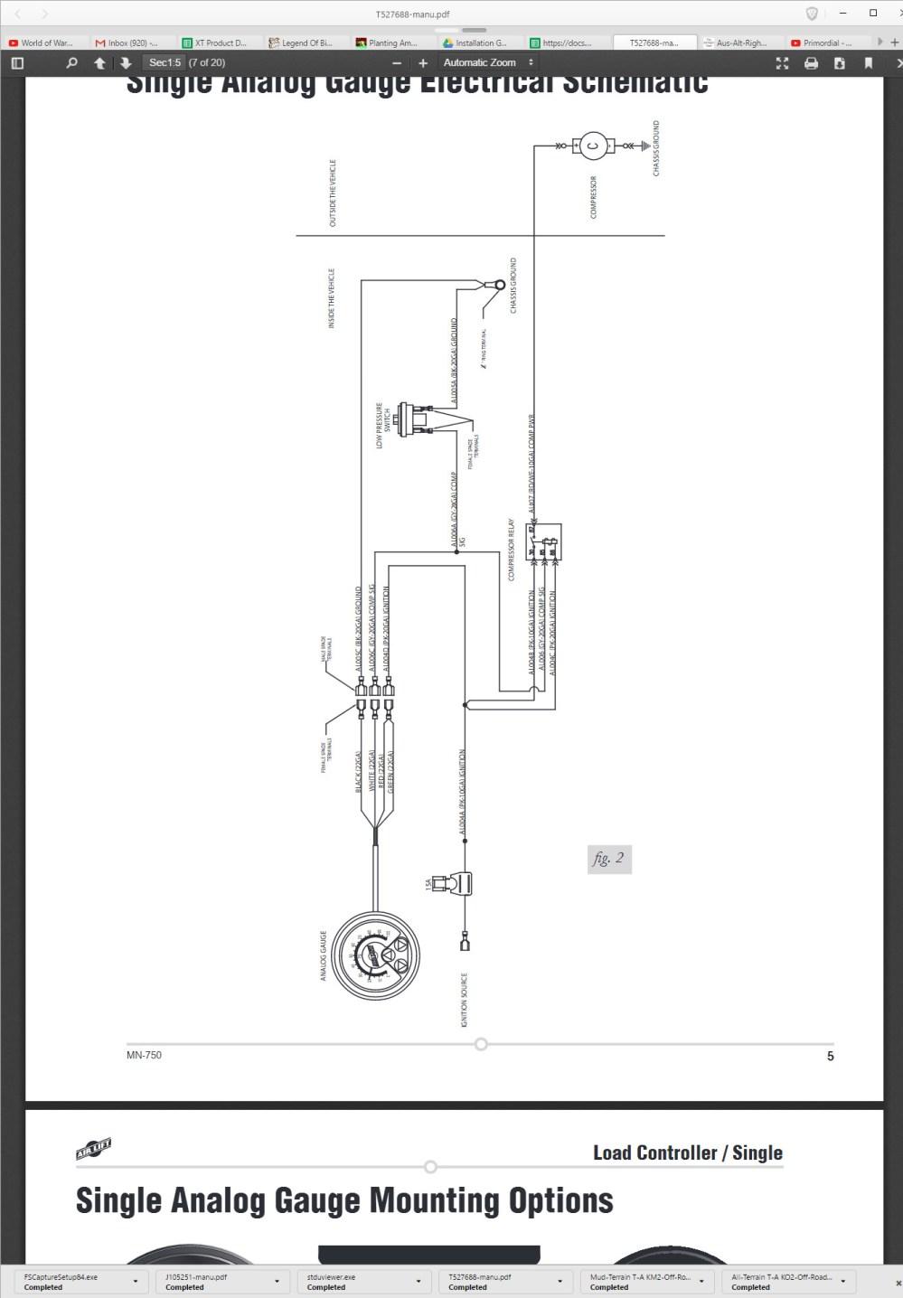 medium resolution of single analog gauge mounting hardware on bottom of gauge