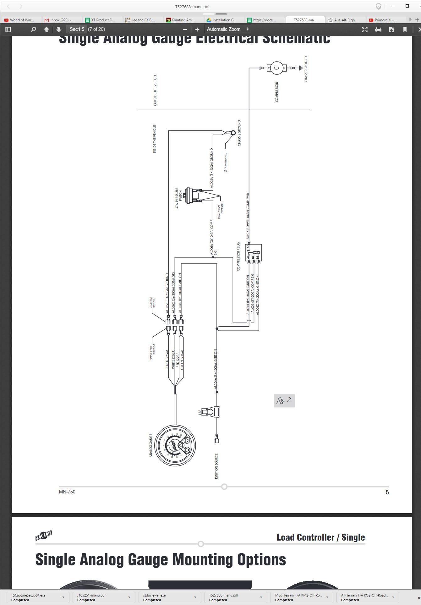 hight resolution of single analog gauge mounting hardware on bottom of gauge