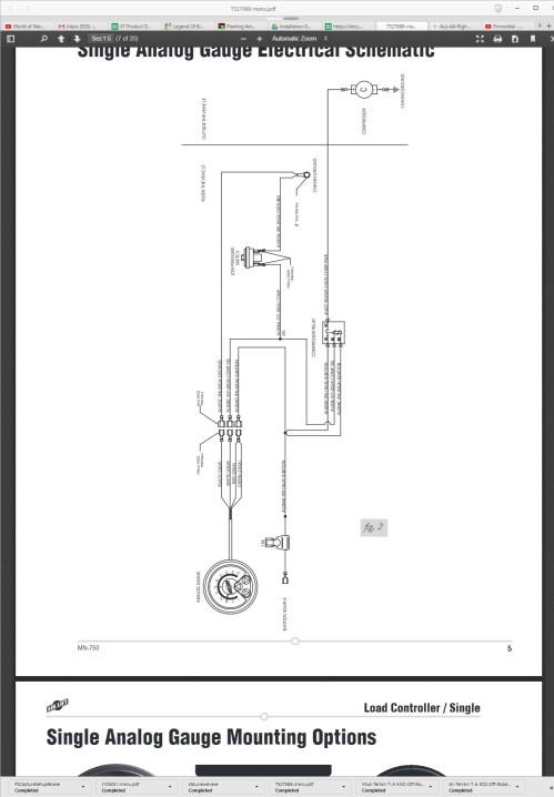 small resolution of single analog gauge mounting hardware on bottom of gauge