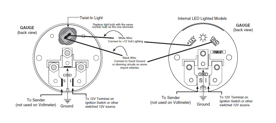 Wiring Diagram For Auto Meter Tach To Hook Up To A 1995