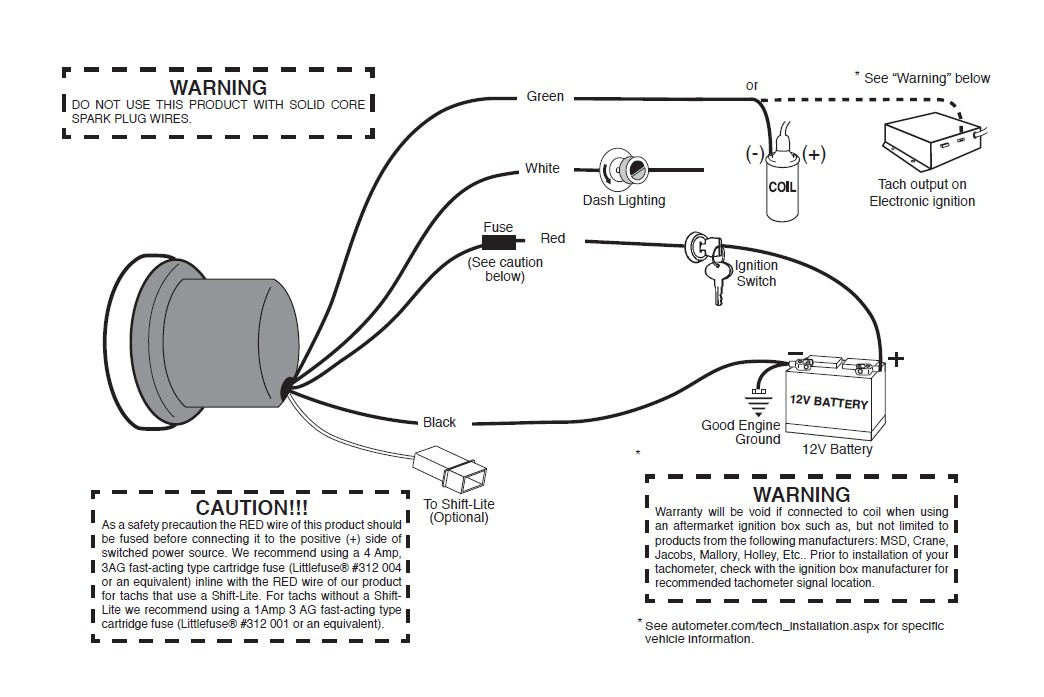 [DIAGRAM] How To Install Mopar 5 In Pedestal Tachometer W