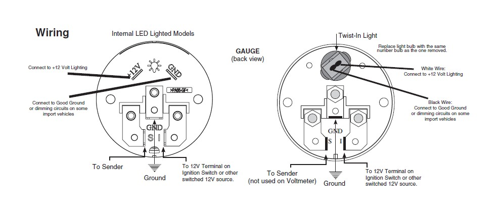 water temp gauge wiring diagram