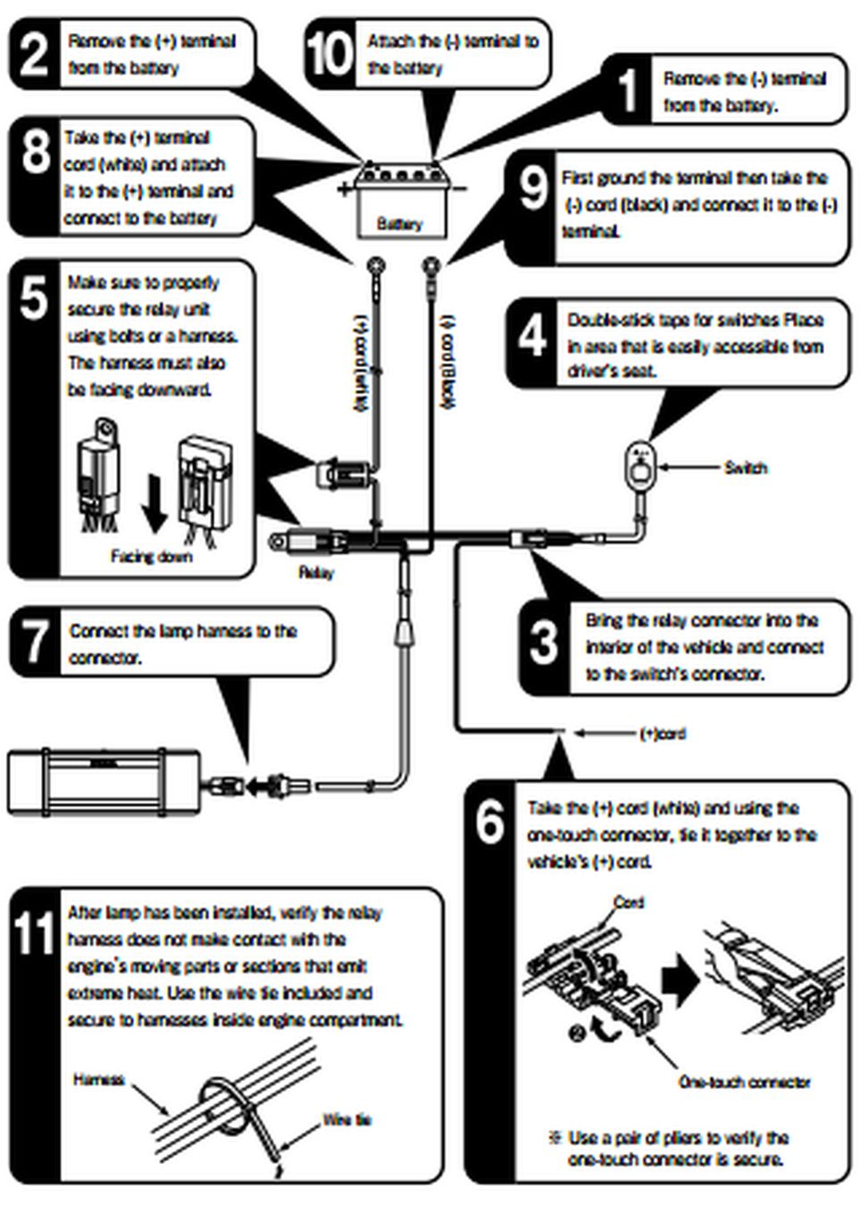 hight resolution of relay harness installation sequence