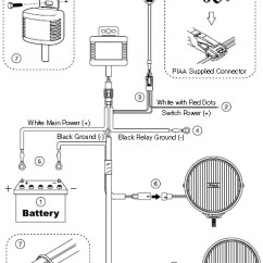 Halogen Work Light Wiring Diagram Bronco How To Install Piaa 520 Series 6 In Round Chrome Smr Lights