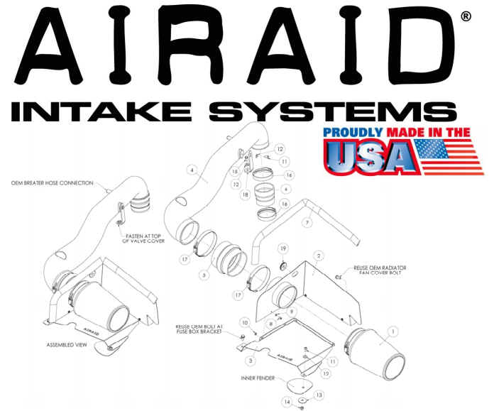 How to Install an AIRAID Cold Air Dam Intake on your 1997