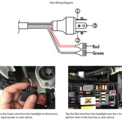 Jeep Wrangler Tj Wiring Diagram Toyota Corolla Stereo How To Install Axial Led Halo Headlights W Angel Eye Drl Turn Secure Components And Reinstall The Headlight Bezel Trim