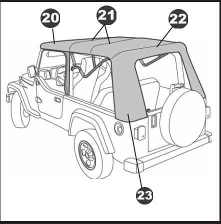 4 Door Jeep Wrangler Soft Top White Jeep Wrangler Soft Top