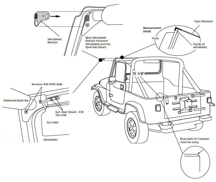 install jeep yj soft top