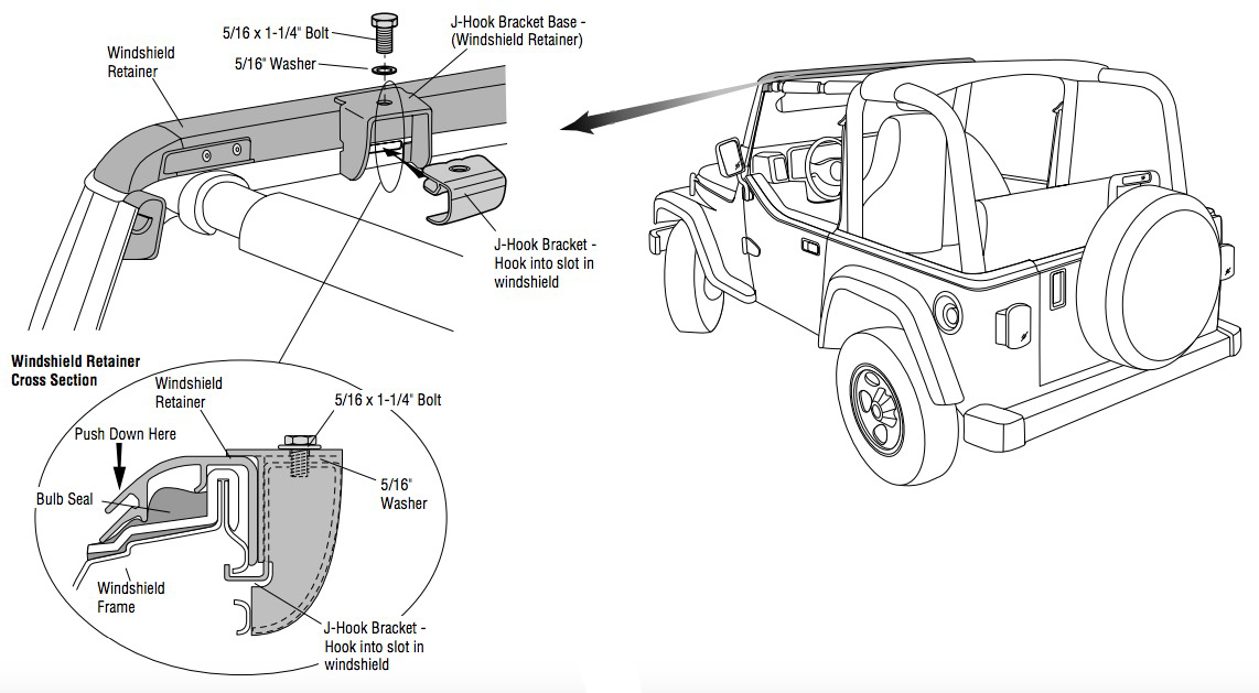 How to Install a Bestop No-Drill Windshield Channel on