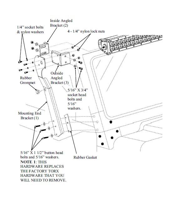 How to Install Carr XRS Adjustable LED Light Bar Brackets