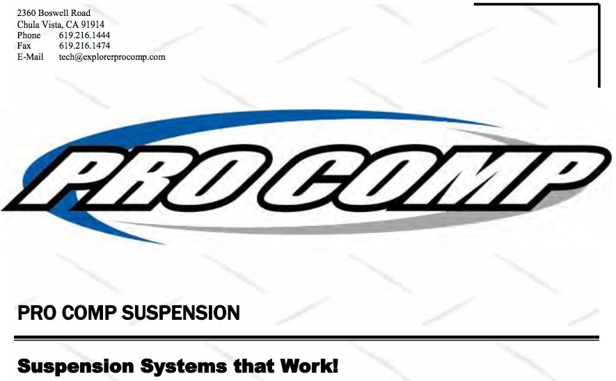 How to Install Pro Comp 4 in. Stage II Lift Kit w/ Shocks