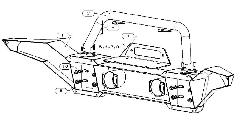 How to Install RedRock 4x4 Avenger Full Width Front Bumper