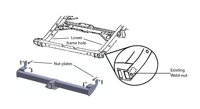 How to Install Rugged Ridge 2 in. Receiver Hitch (97-06