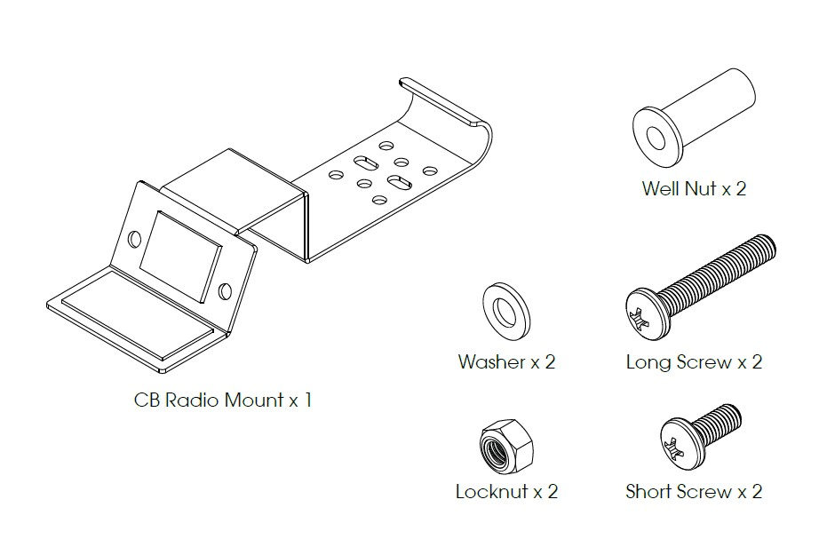 How to Install Rugged Ridge Windshield CB Radio Mount (03