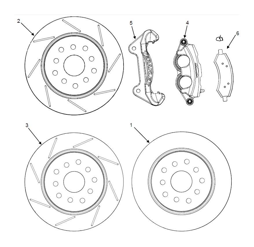 How to Install Teraflex Front Big Brake Kit w/ 13.3 in