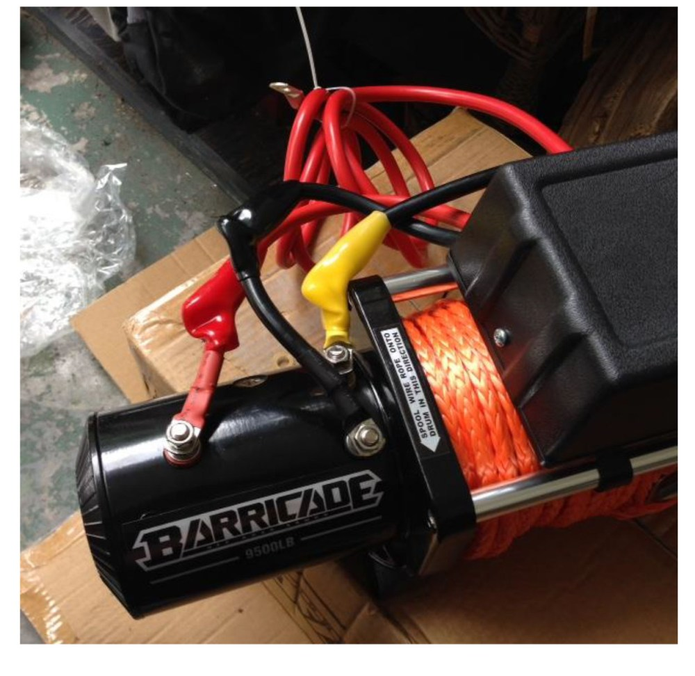 medium resolution of roll the winch over onto its back side connect the black negative battery wire and black ground wire to the bolt on the underside of the winch using a 14mm