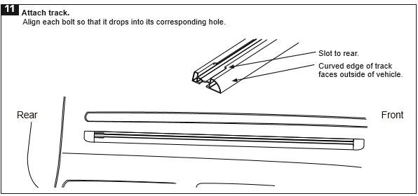 How to Install a Rhino-Rack RLT500 Trackmount Black 2 Bar