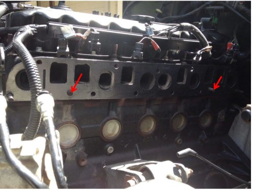 small resolution of install new exhaust manifold in reverse order of the steps listed above when tightening new manifold bolts be sure to start tightening bolts in the middle
