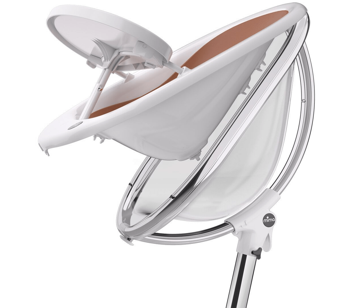 Mima Moon High Chair Mima Moon 2g High Chair White Fuschia