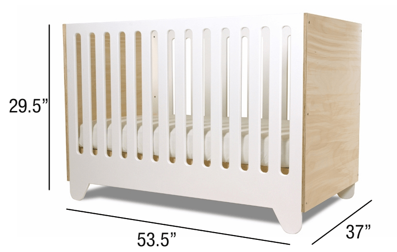 What is the dimensions of a standard crib mattress