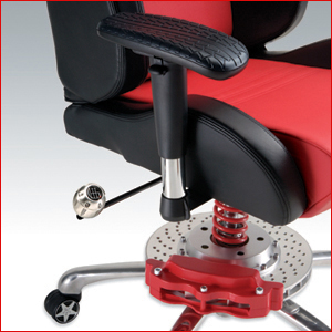 racing desk chair marshmallow chairs toddlers pitstop gt office series has inspired brake caliper and metal shocks