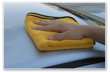Before Opt-Coat dries, use a clean, lint-free microfiber towel to buff off the residue.