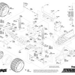 Traxxas Rustler Vxl Parts Diagram Swm8802 Wiring 1 10 Scale Stampede Xl 5 2wd Monster Truck 36054