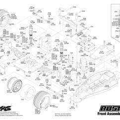 Traxxas Rustler Vxl Parts Diagram 1993 Ford Ranger Fuse 1 10 Scale 2wd Brushless Stadium Truck