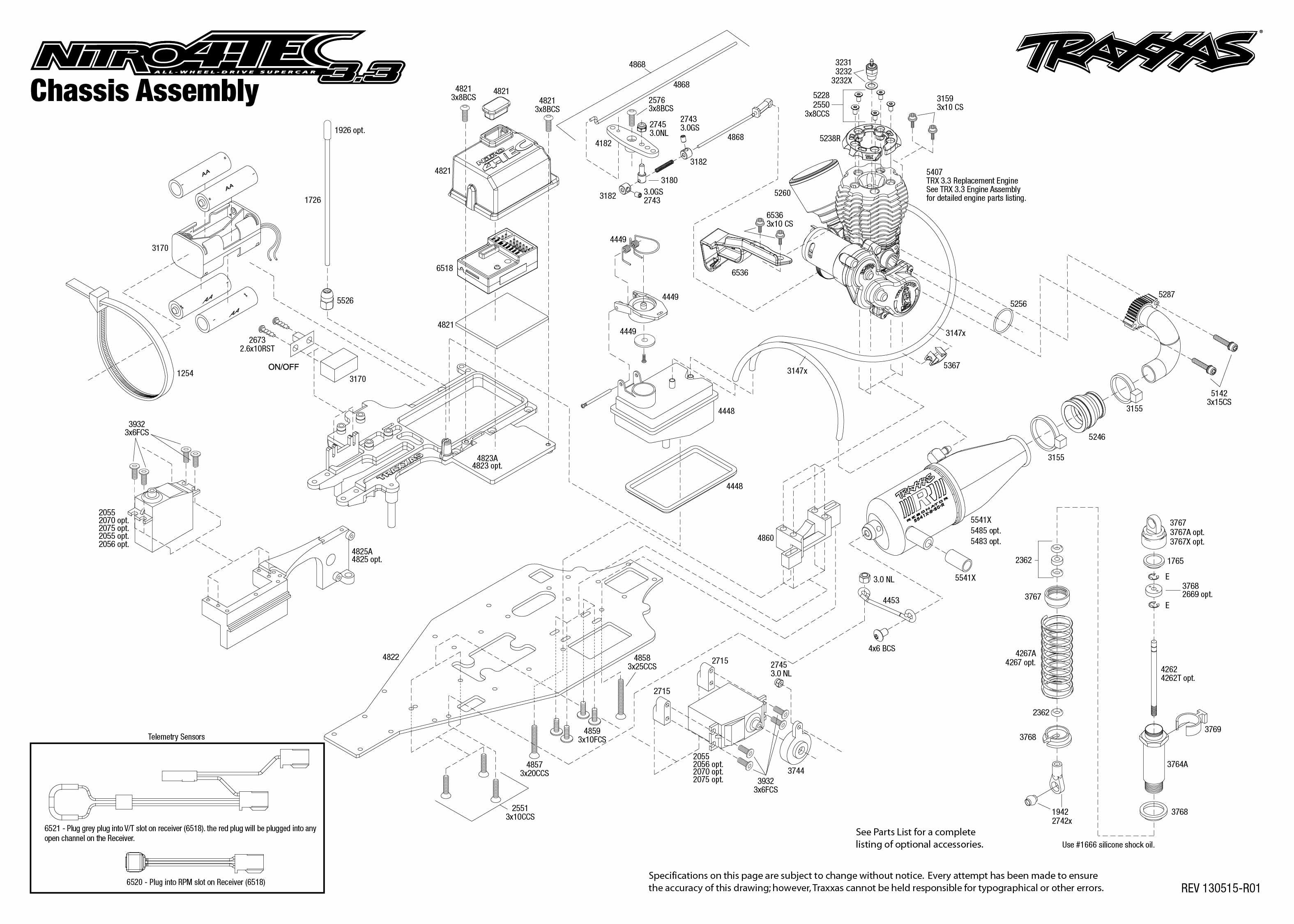 traxxas revo 3 parts diagram addressable smoke detector wiring tqi receiver