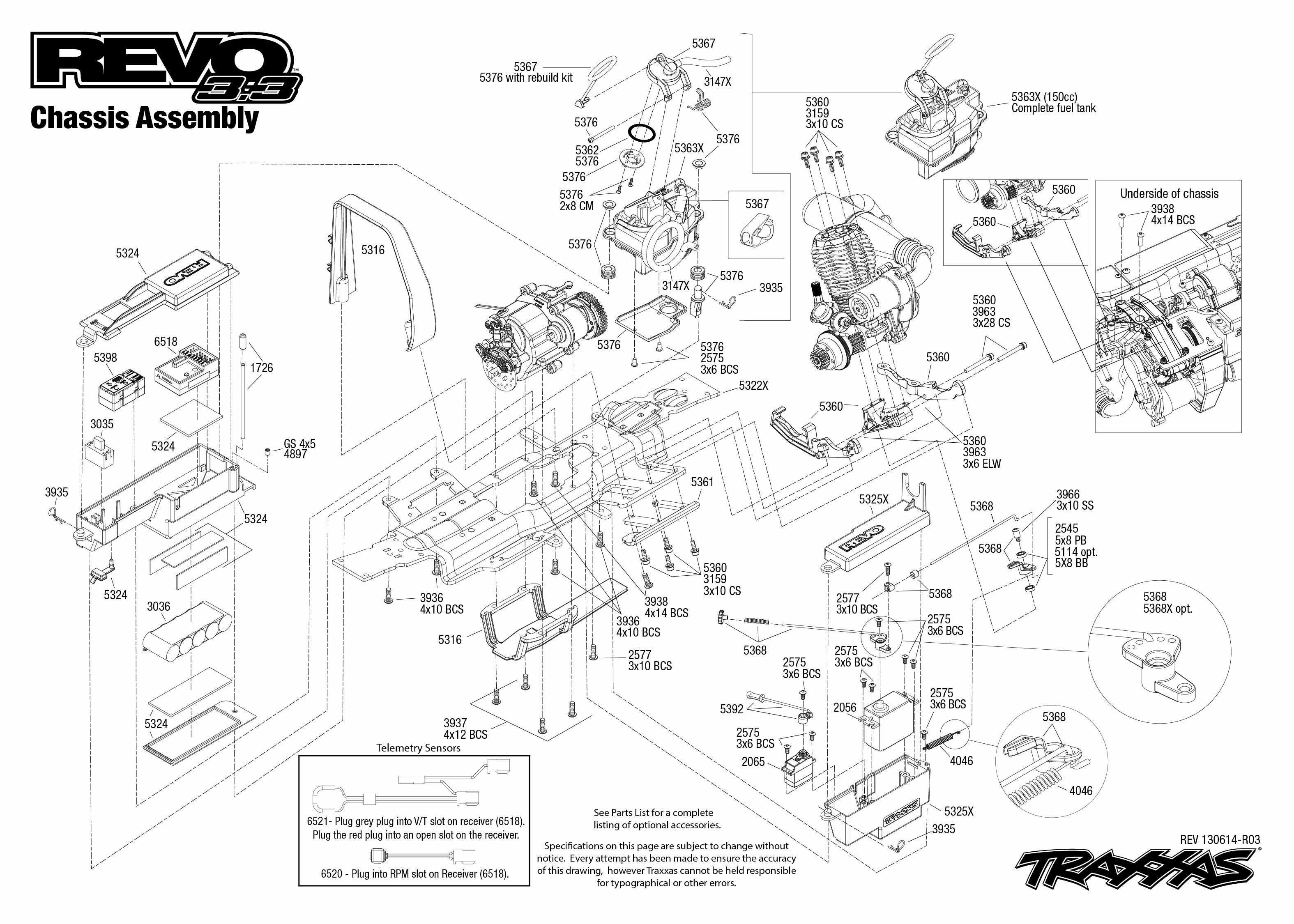 traxxas revo 3 parts diagram fetal pig reproductive system new rtr 4wd nitro monster truck 5309 w
