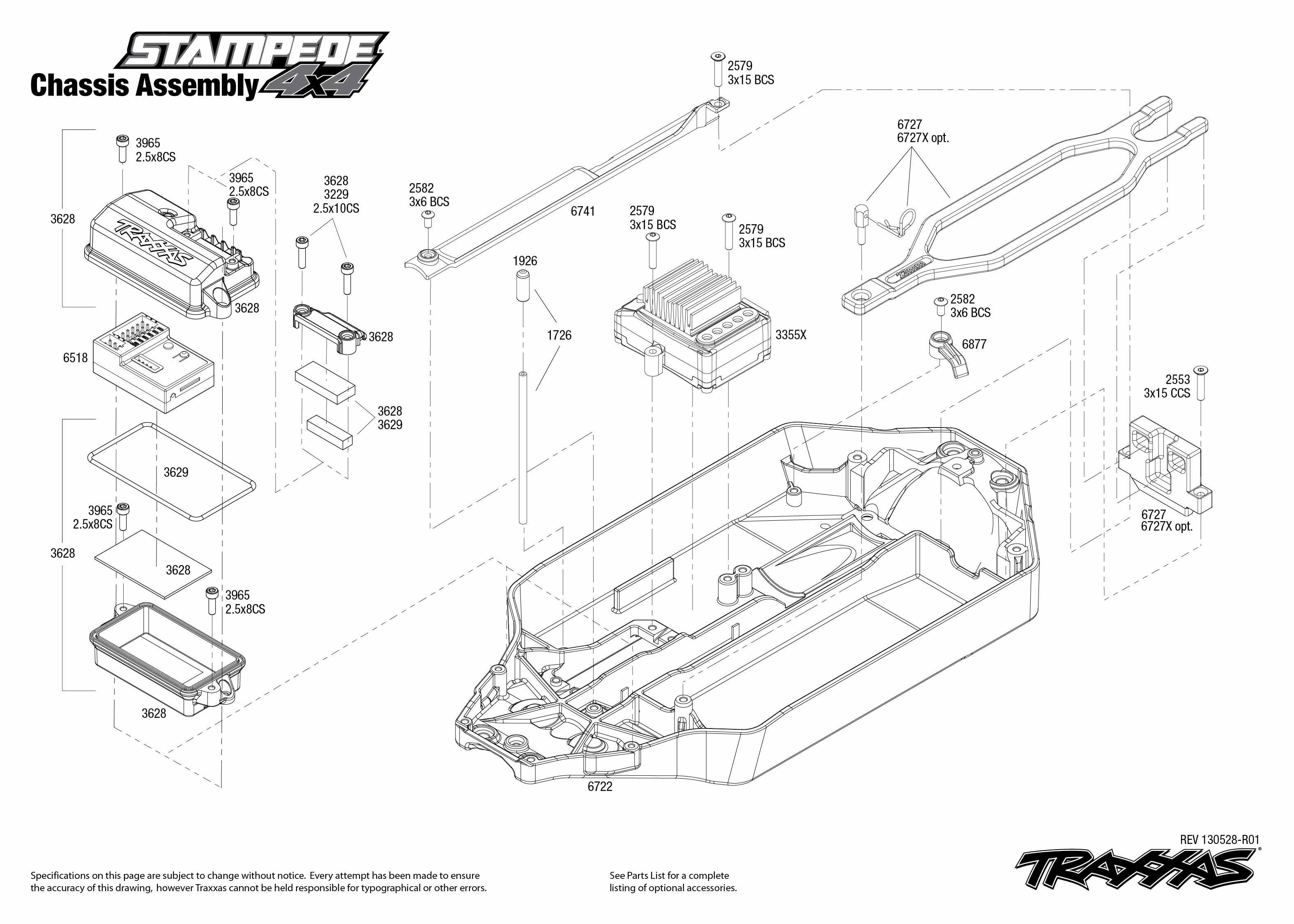 traxxas revo 3 parts diagram 2001 toyota corolla stereo wiring transmission 2 5