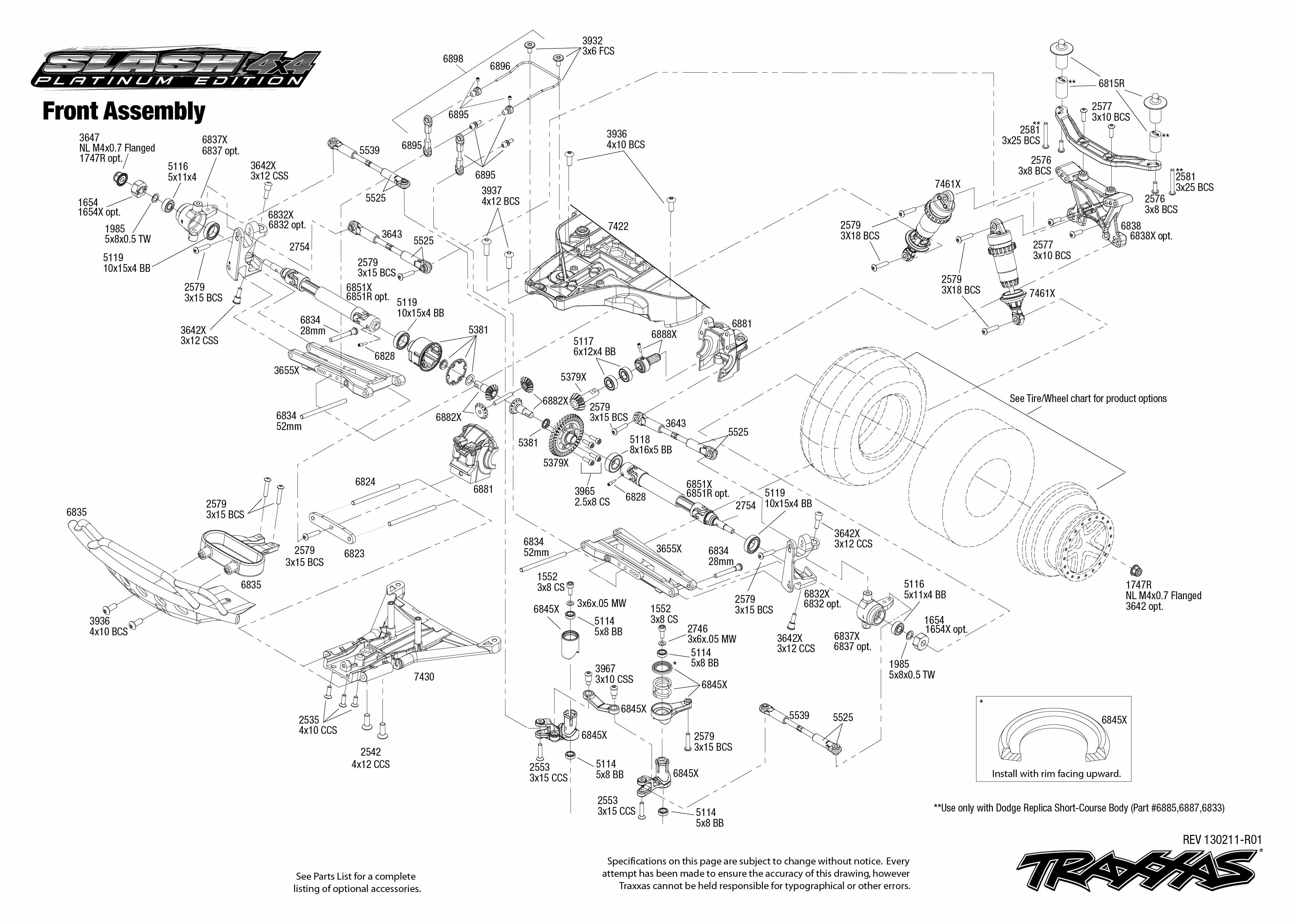Traxxas Slash 4x4 Parts Diagram