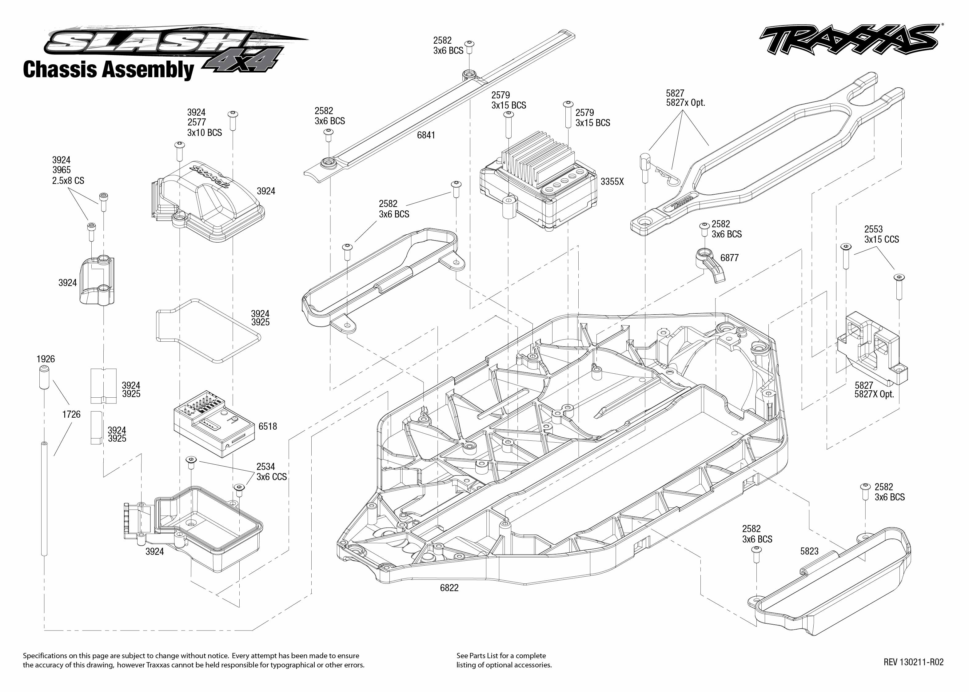 traxxas t maxx 2 5 transmission diagram lincoln welders wiring diagrams 1 10 scale slash 4x4 brushless short course truck
