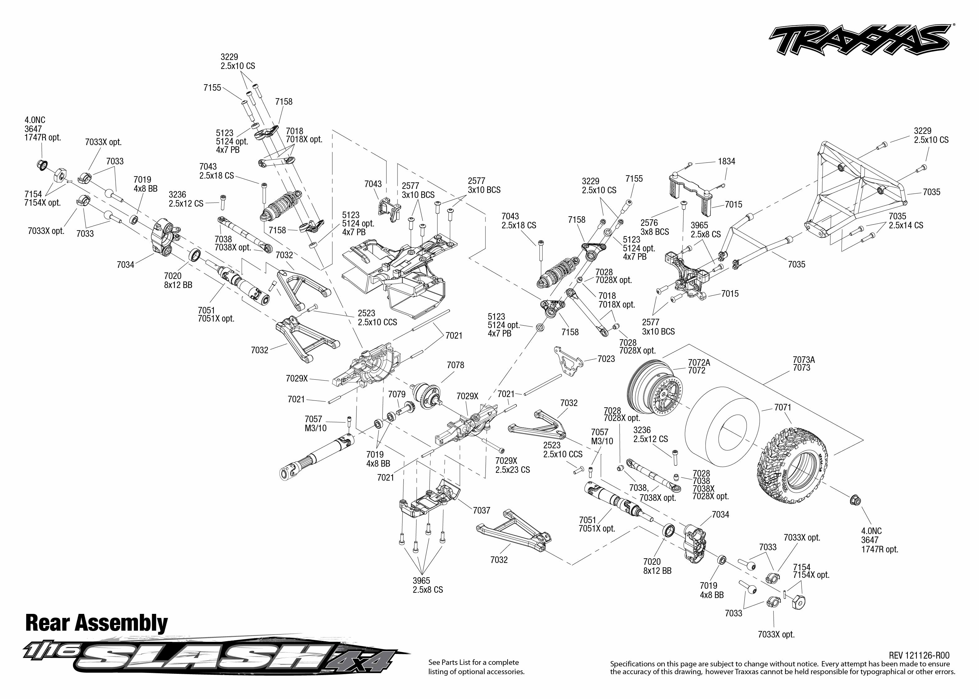 traxxas revo 3 parts diagram trailer hitch wiring 2 5 exploded view