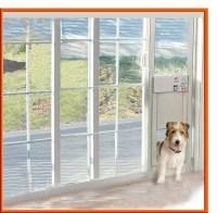 POWER PET Electronic Pet Door For Sliding Glass Patio Doors.