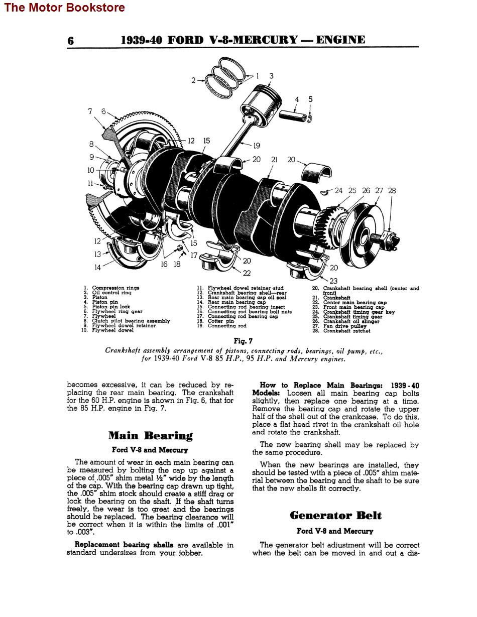 1939-1940 Ford, Mercury V8 Engine & Chassis Repair Manual