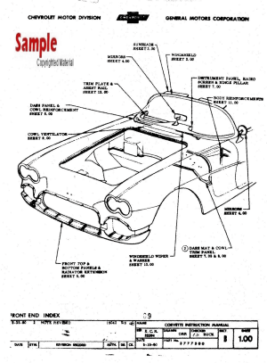 1961 Corvette (C1) Factory Assembly Instruction Manual
