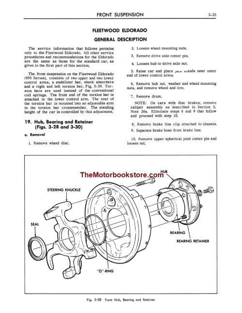 small resolution of 1967 cadillac shop manual sample page front suspension