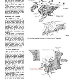 1967 ford mustang shop manual sample page air conditioning [ 950 x 1253 Pixel ]