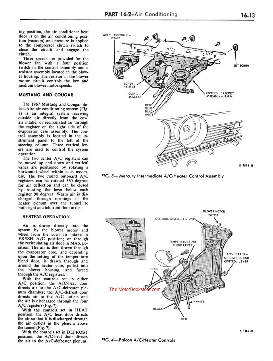 hight resolution of 1967 ford mustang shop manual sample page air conditioning