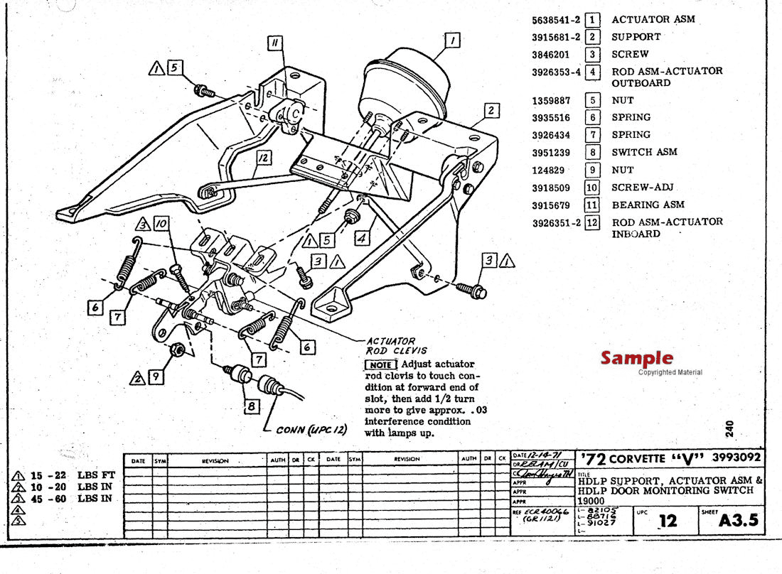 Corvette Factory Assembly Instruction Manual