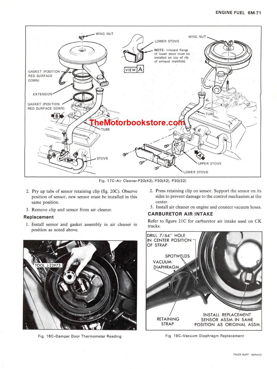 hight resolution of 1976 chevrolet truck shop manual supplement sample page engine fuel