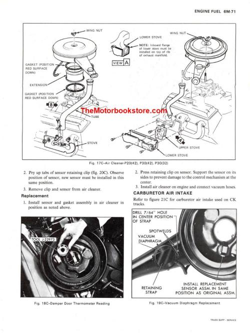 small resolution of 1976 chevrolet truck shop manual supplement sample page engine fuel
