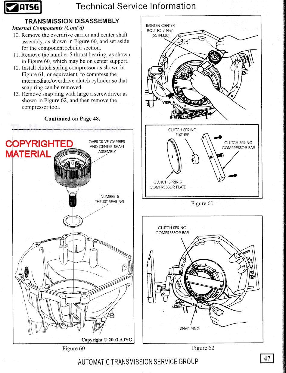 hight resolution of ford trucks 4r100 transmission rebuild sample page atsg