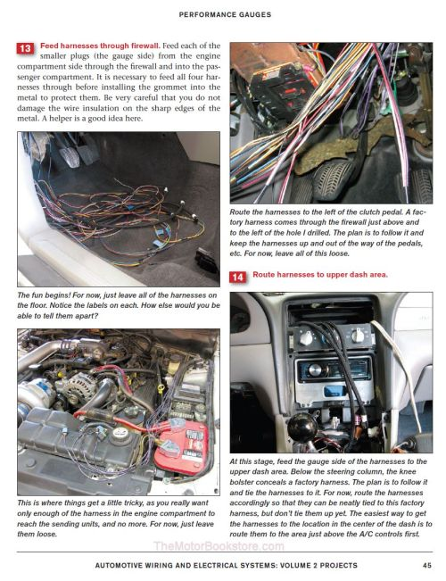 small resolution of automotive wiring electrical systems performance gauges