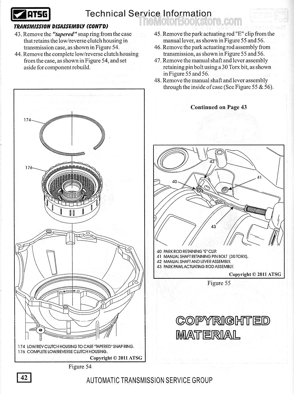 medium resolution of dodge truck 68rfe transmission disassembly sample page atsg